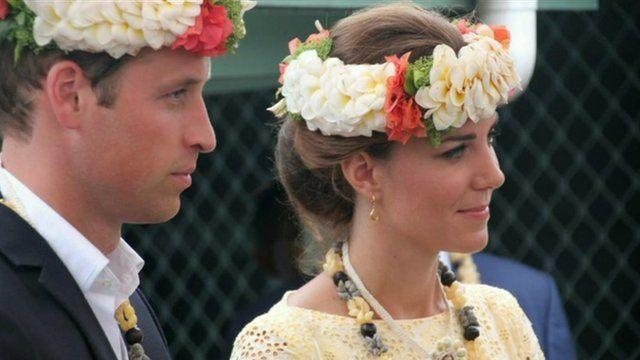 The Duke and Duchess of Cambridge in Tuvalu
