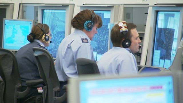 Air traffic controllers at Swanwick