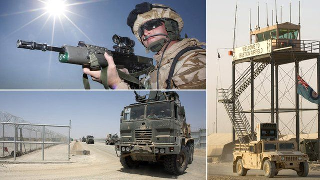 Montage of images from Camp Bastion