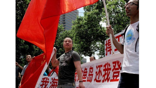 Anti-Japanese protesters in China