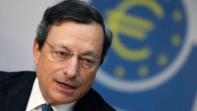 President of the European Central Bank Mario Draghi
