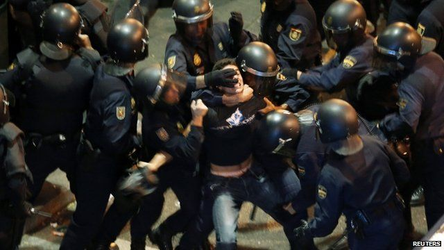 Clashes in Madrid