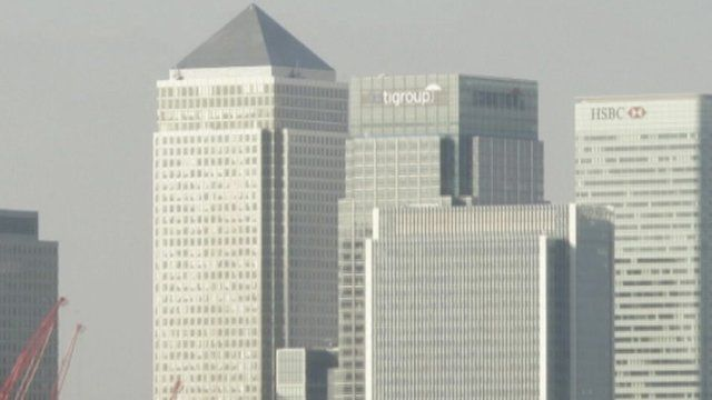 Buildings in London's banking area