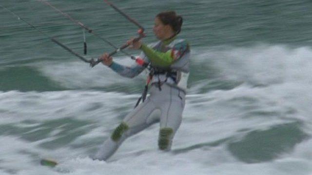 Kitesurfer Bryony Shaw