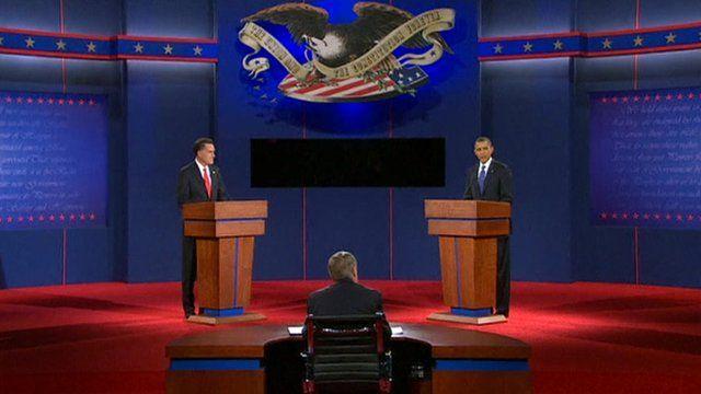 Republican challenger Mitt Romney and US President Barack Obama