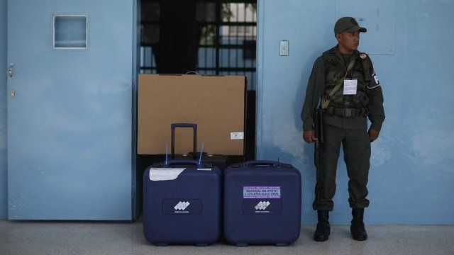 Caracas polling station