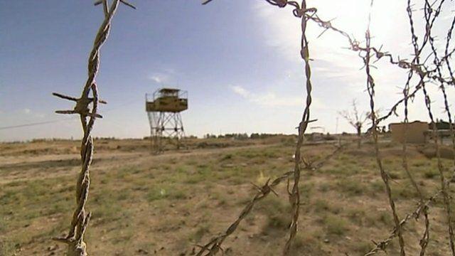 Barbed wire on Turkey Syria border