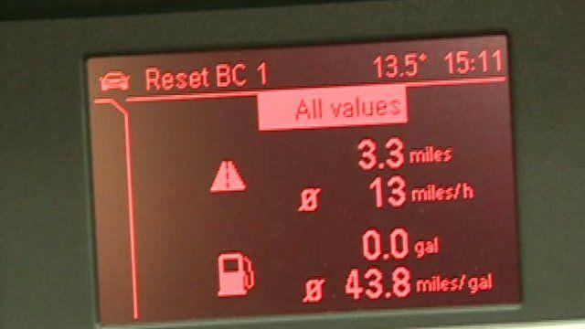 Fuel indicator in car