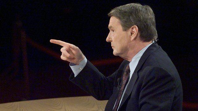 Jim Lehrer moderating debate
