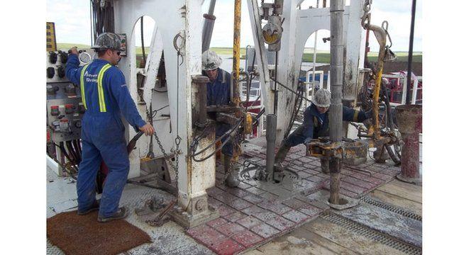 Oil drilling in Canada