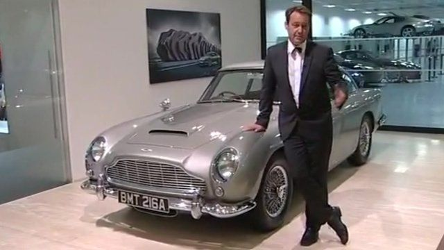 Mike Cartwright with Bond's Aston Martin
