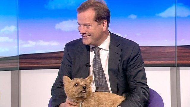 Charlie Elphicke and his dog Star