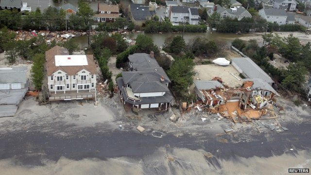 Houses on New Jersey coast