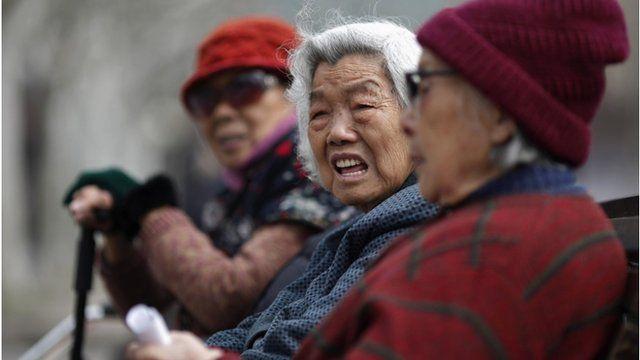 Elderly Chinese women
