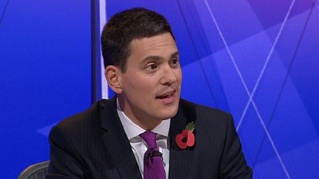 David Miliband on Question Time
