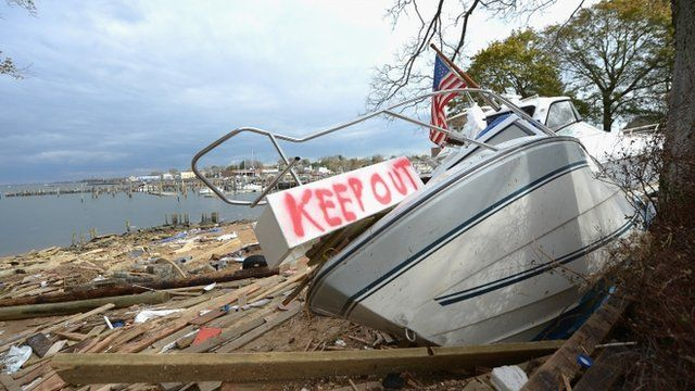 Boats destroyed in Keyport, New Jersey