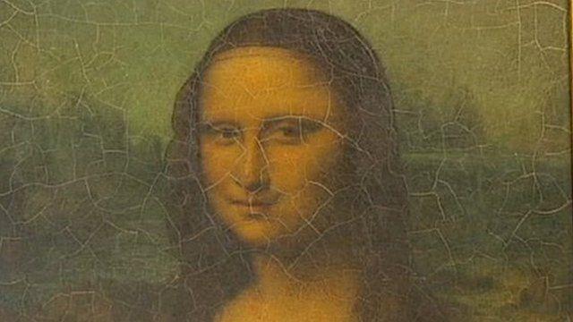 A copy of Leonardo Da Vinci's Mona Lisa by the artist Mortimer Menpes.