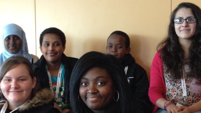 Students from Northumberland Park Community School in Tottenham