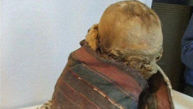 The mummified toddler