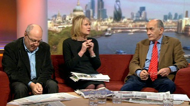 Andrew Marr reviews the Sunday papers with General Sir Mike Jackson, Ann Treneman and Harvey Goldsmith