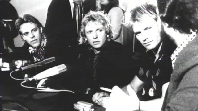 The Police at a press conference