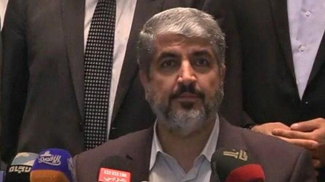 Hamas political leader Khaled Meshaal