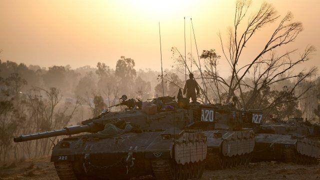 Tank on Gaza-Israel border