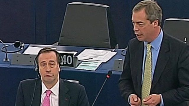 Nigel Farage in European Parliament