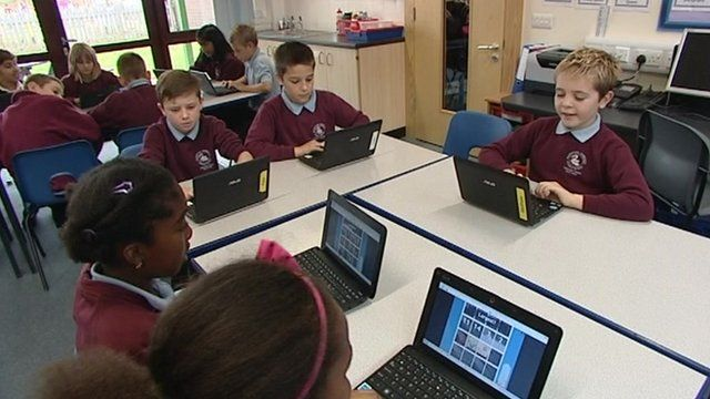 Pupils in a new Peterborough school