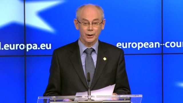 Summit chairman Herman Van Rompuy