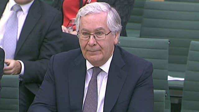 Bank of England governor Sir Mervyn King