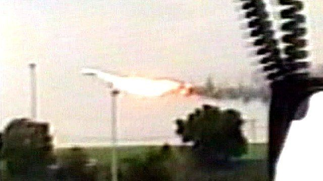 Concorde in flames
