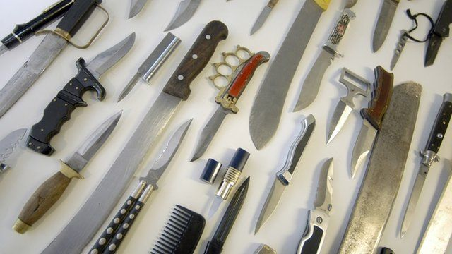 Knives taken from youths in London