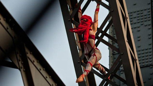 Seanna Sharpe on a bridge