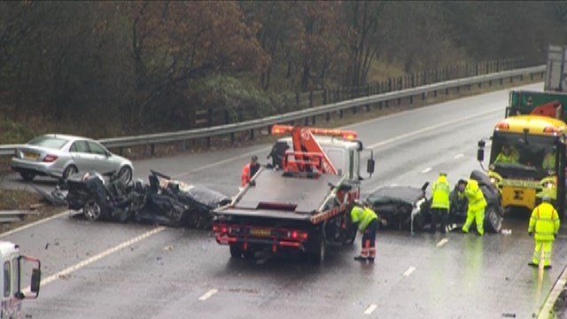 M1 crash scene