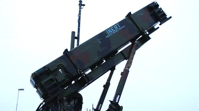 A Patriot missile interceptor