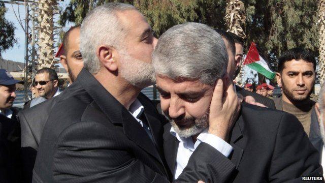 Khaled Meshaal in Gaza
