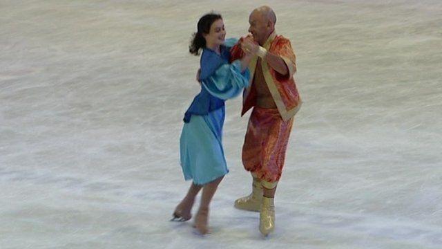Former champion skater Martin Minshall with skating partner Cammy