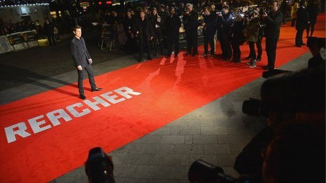 Tom Cruise at Jack Reacher premiere
