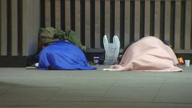 Rough sleepers in London
