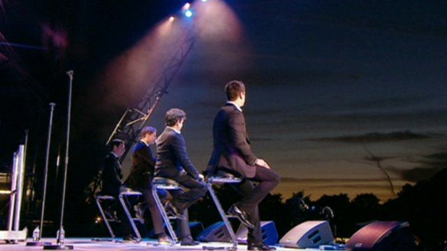 Il Divo on stage at Hyde Park