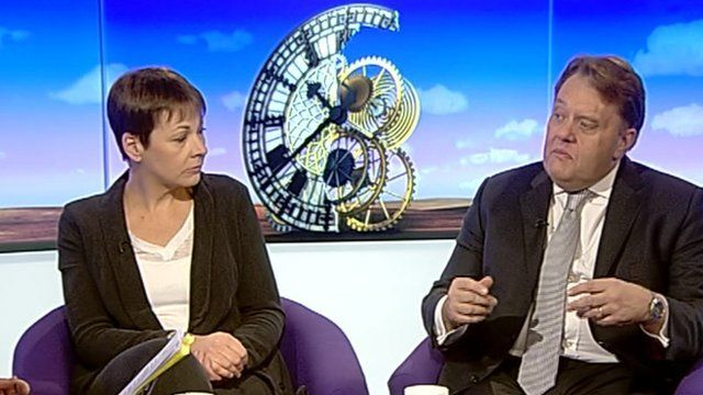 Caroline Lucas and John Hayes