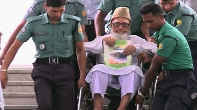 One of the leaders of Jamaat-e-Islami, on trial for crimes against humanity