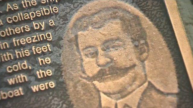 Plaque for Titanic crew men in Holyhead