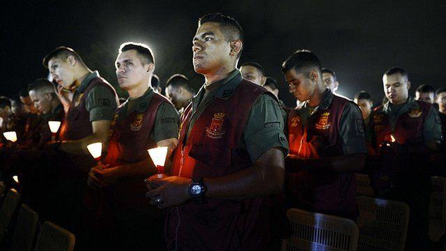 Venezuelan soldiers in Caracas