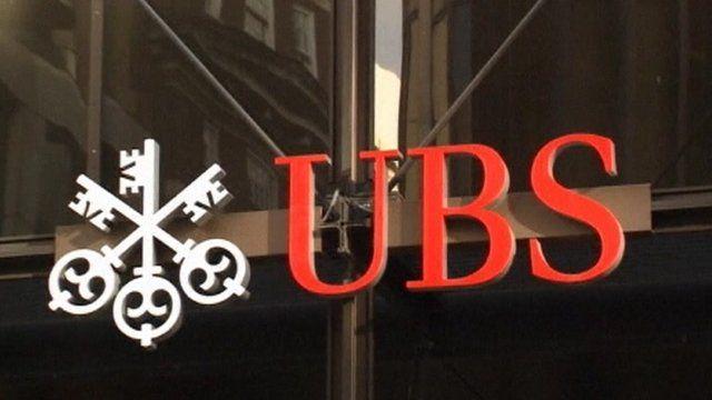 UBS logo on building