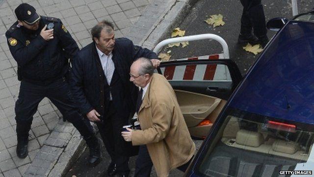 Rodrigo Rato arrives at court