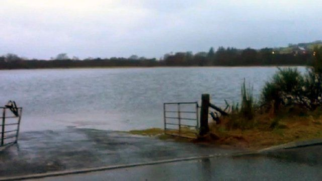 Flooded field in Strachan