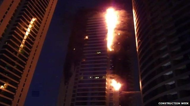Dubai tower block fire