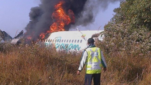 The aftermath of the plane crash